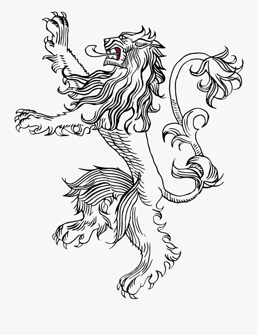 House Lannister Black And White, Transparent Clipart