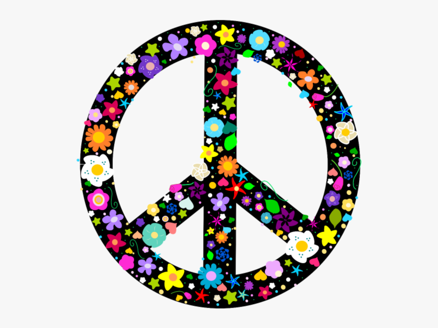 Hippies Peace Sign - Magnetic Car Peace Signs, Transparent Clipart