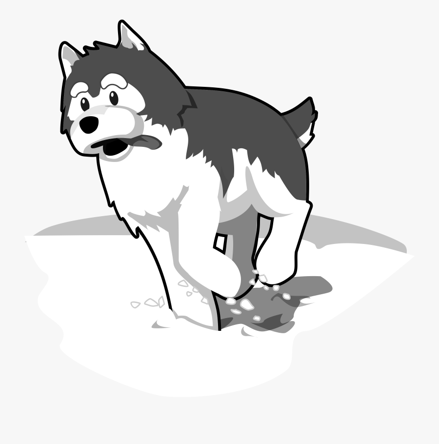 Husky Clipart Baby Husky - Drawing A Husky In Snow, Transparent Clipart