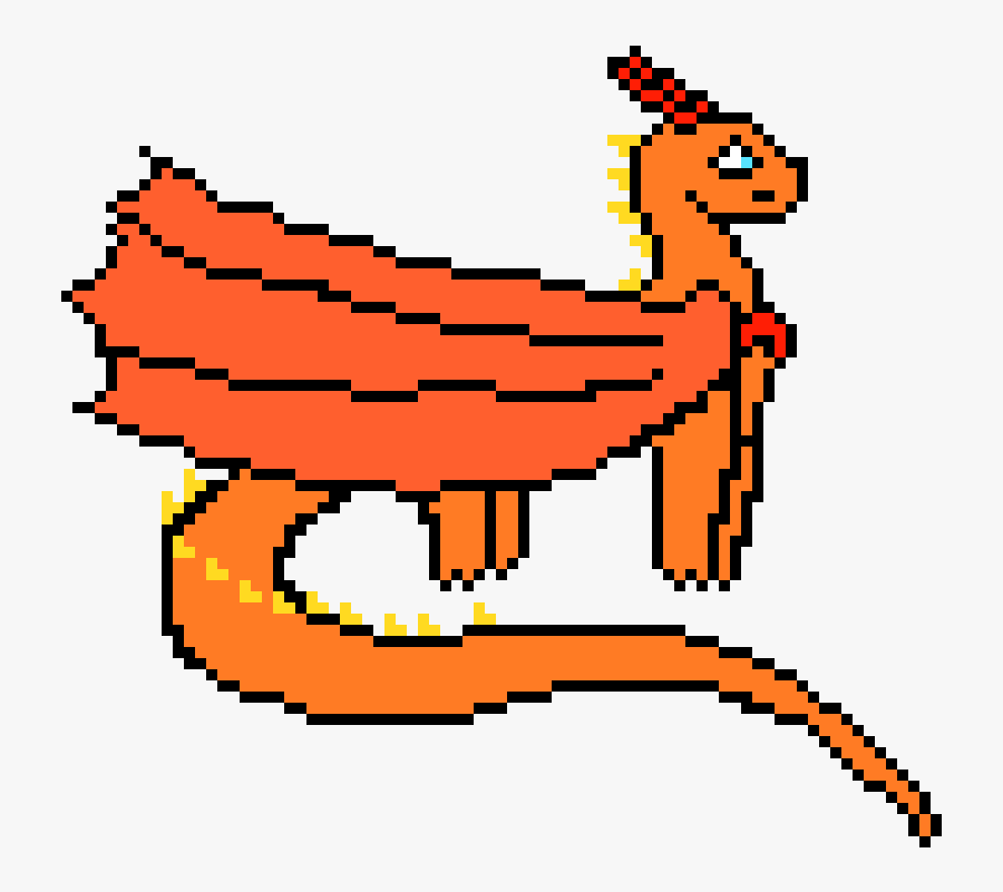 Wings Of Fire Pixel Art Free Transparent Clipart Clipartkey