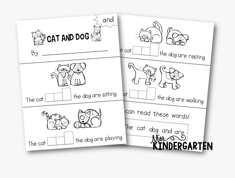 Sight Word It Booklet, Transparent Clipart