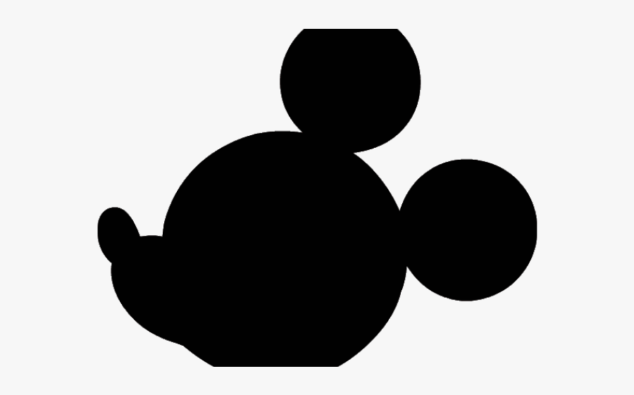 Mickey Mouse Ears Clipart - Mickey Mouse Head Silhouette Png, Transparent Clipart