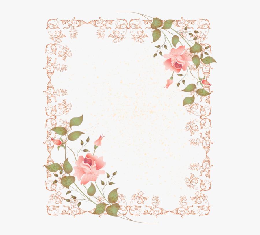 Vintage Flower Clipart Corner - Transparent Flower Frame Border Png, Transparent Clipart