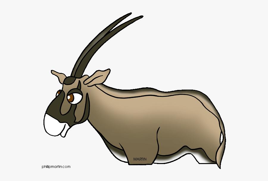 Antelope Clipart Oryx - Goat, Transparent Clipart