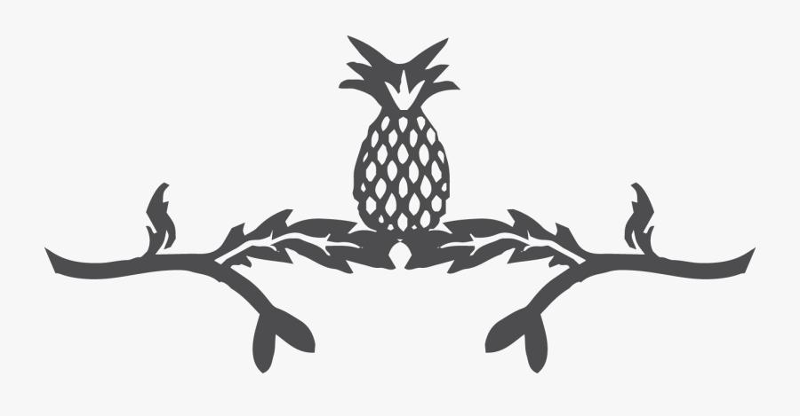 Pinapple Header - Illustration, Transparent Clipart