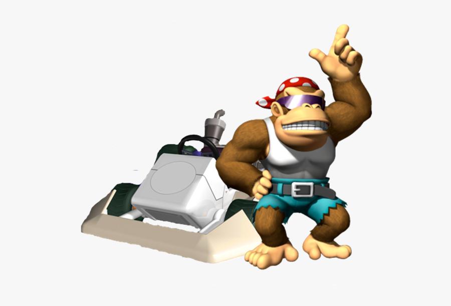Transparent Funky Kong Png Funky Kong Mario Kart Wii