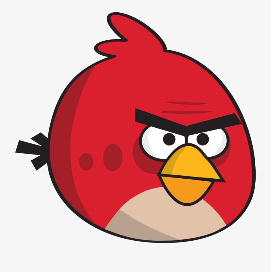 Red Bird Clip Art With Photos Medium Size - Red Angry Bird Side, Transparent Clipart