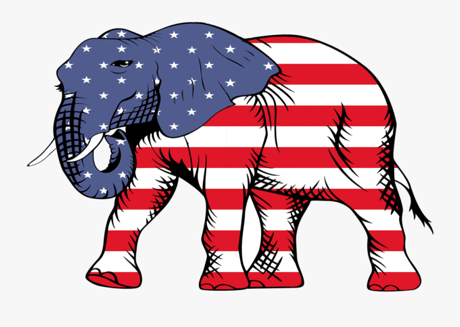 American Flag With Elephant, Transparent Clipart