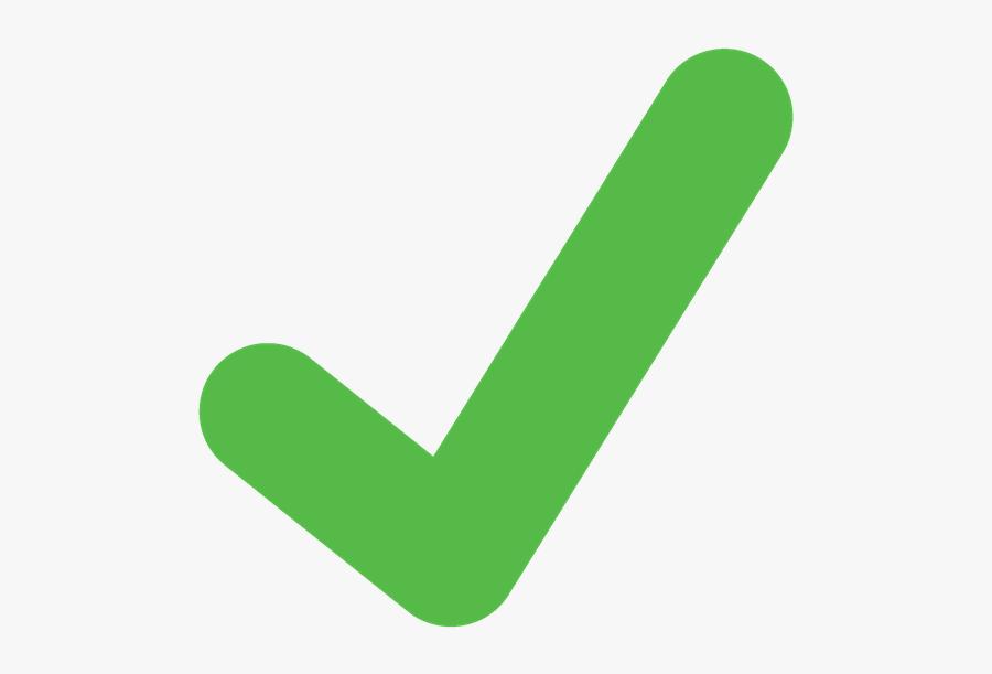 Art,symbol - Transparent Green Tick Icon, Transparent Clipart