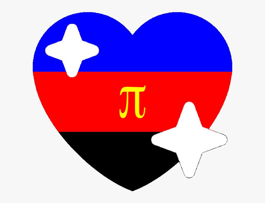 Polyamorous Sparkle Heart Discord Emoji - Polysexual Heart Discord Emojis, Transparent Clipart