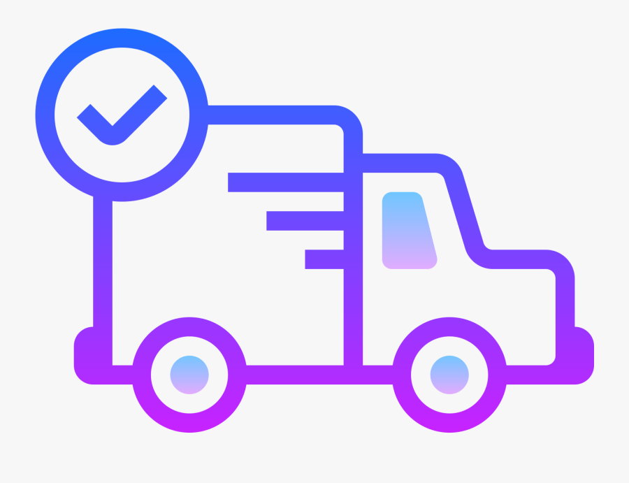 Motor Vehicle,mode Of Transport,clip Blue,car - Same Day Delivery Icon, Transparent Clipart
