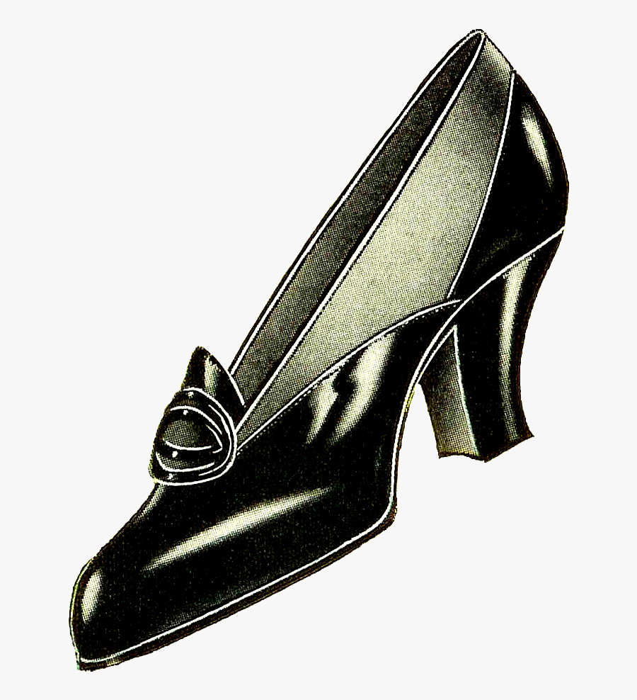 """Vintage Women""""s Shoe Fashion Pumps With Free Blogger - Fashion Shoes Clip Art, Transparent Clipart"""