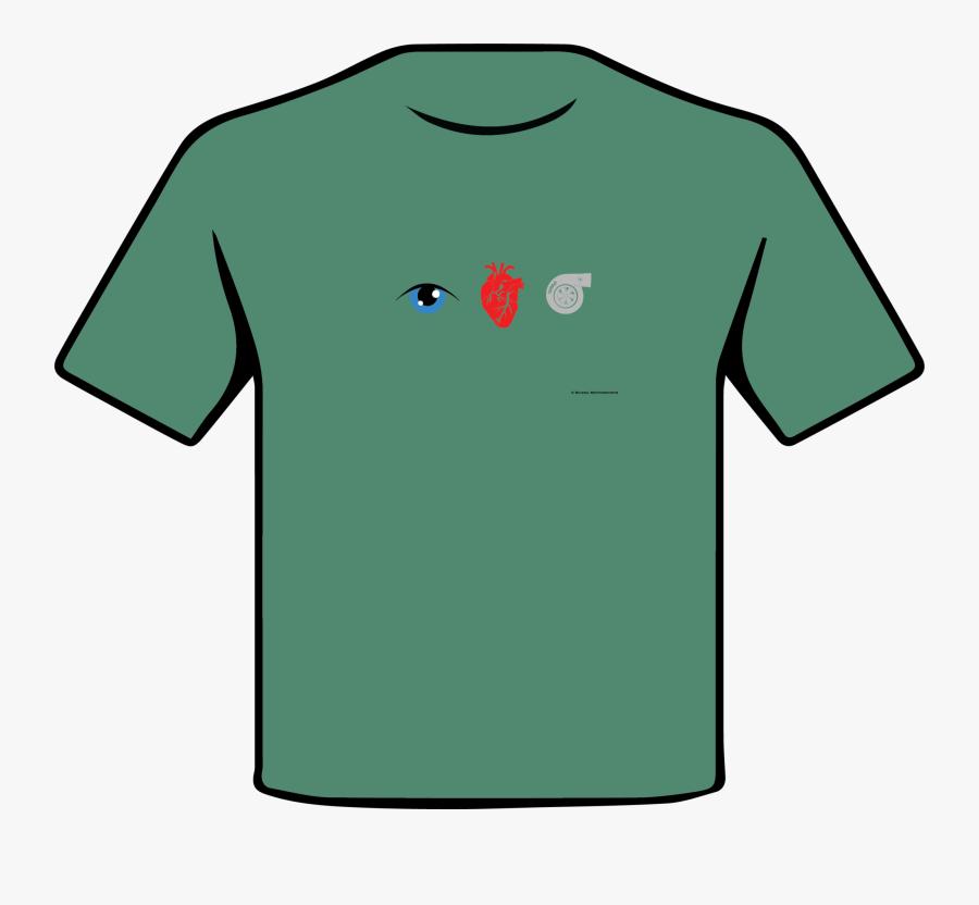 Eye Heart Turbo Multi Color T-shirt - Shirt, Transparent Clipart