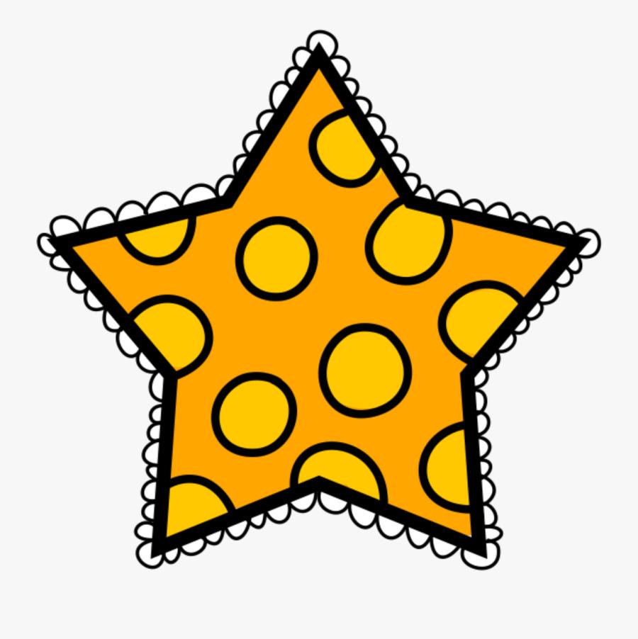 Orange Polka Dot Star Clipart , Png Download - Polka Dot Star Clipart, Transparent Clipart