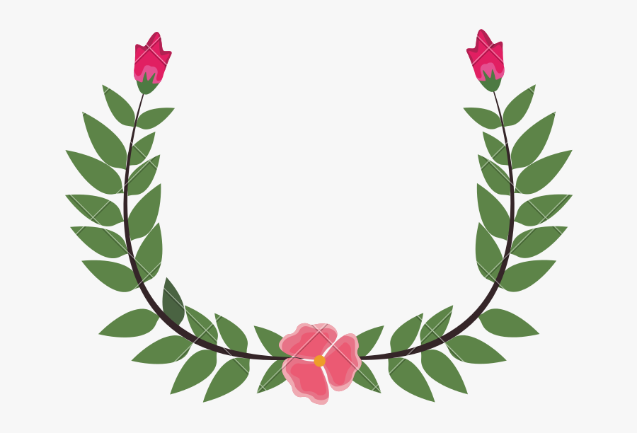 Flower Crown Leaves Drawing - Green Leaf Crown Drawing, Transparent Clipart