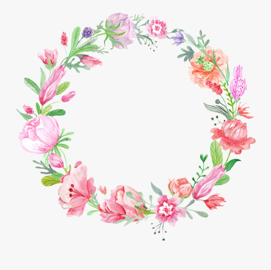 Flower Color Photography Wreath Crown Invitation Wedding - Draw Color Floral Wreath, Transparent Clipart