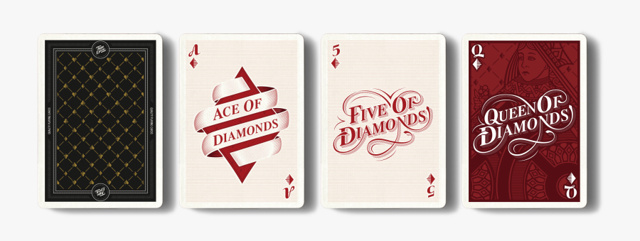 Diamonds - Playing Card Design Font, Transparent Clipart