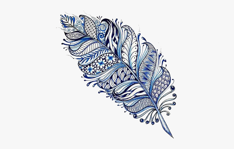 Tattoo Designs Mehndi Feather Mandala Drawing Clipart - Feather Mandala Drawing, Transparent Clipart