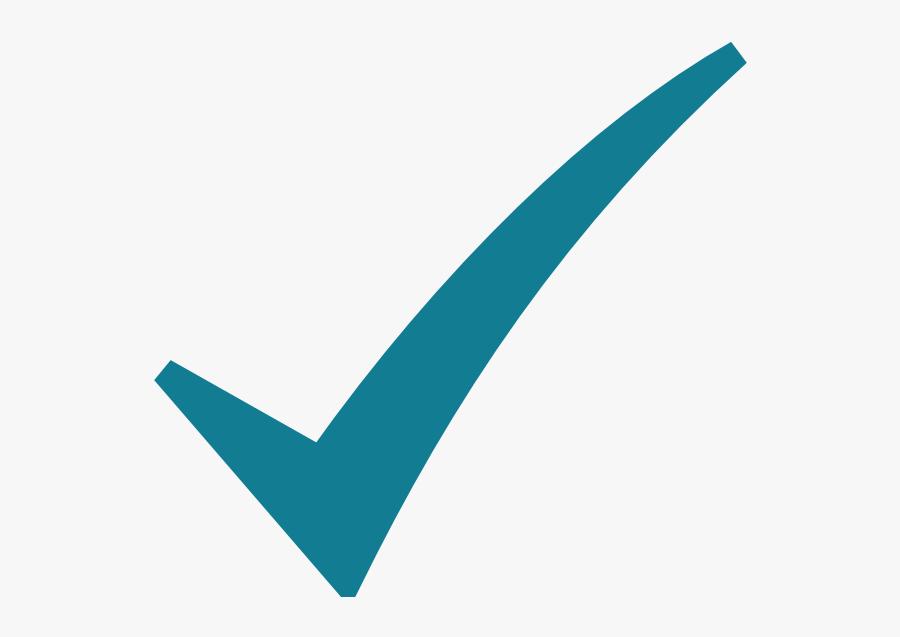 Check Mark Svg Clip Arts - Teal Check Mark Symbol, Transparent Clipart