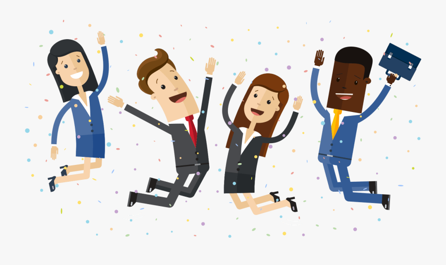 Transparent People Jumping Png - Happy People Cartoon Png, Transparent Clipart