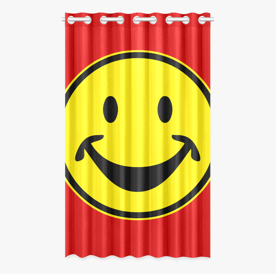 Funny Yellow Smiley For Happy People New Window Curtain - Blackout Rainbow Curtains, Transparent Clipart
