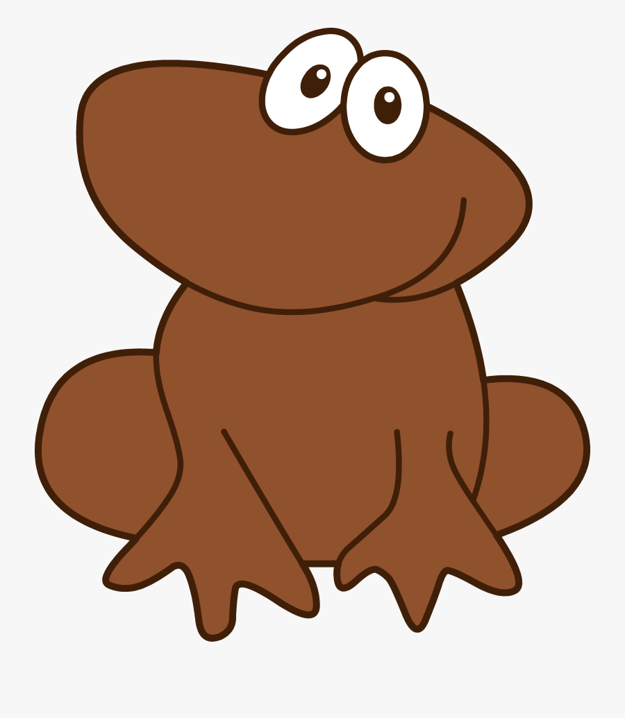 Brown Hair Clipart - Brown Frog Clipart, Transparent Clipart