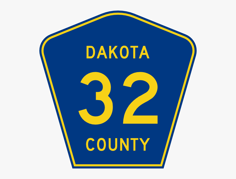Free Vector Highway Sign Dakota County Route 32 Clip - Alabama County Road Sign, Transparent Clipart