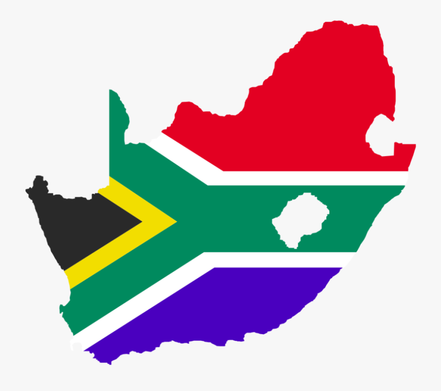 South Africa Map Flag, Transparent Clipart