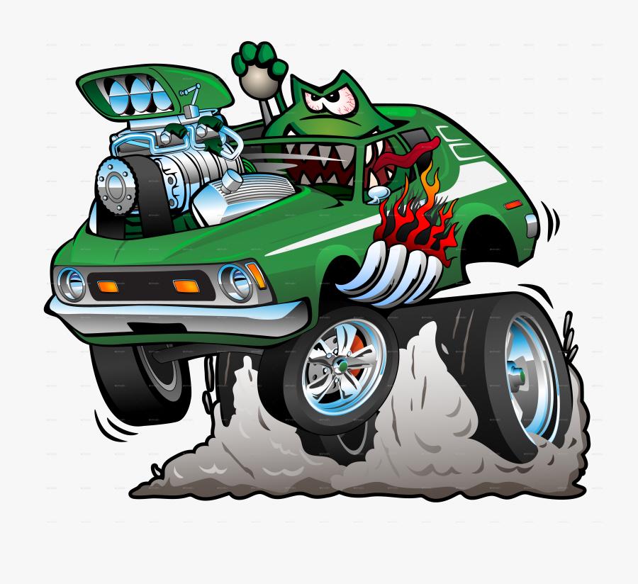 Hot Rod Cartoon, Transparent Clipart