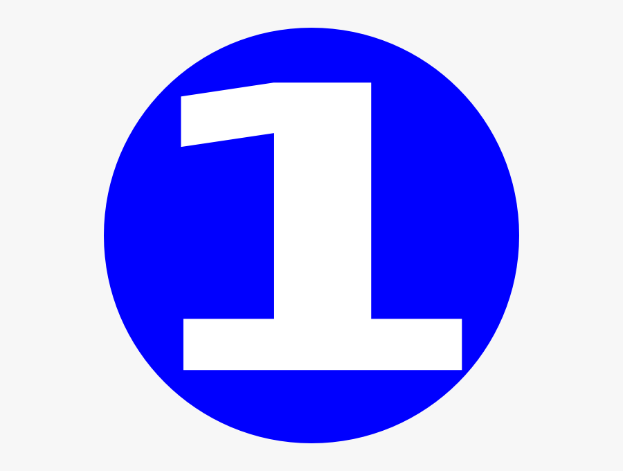 Number 1 In Blue Circle, Transparent Clipart