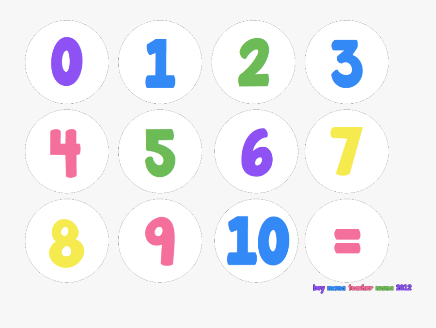 Download 1 To 10 Numbers Png Background - Number 1 10 Png, Transparent Clipart