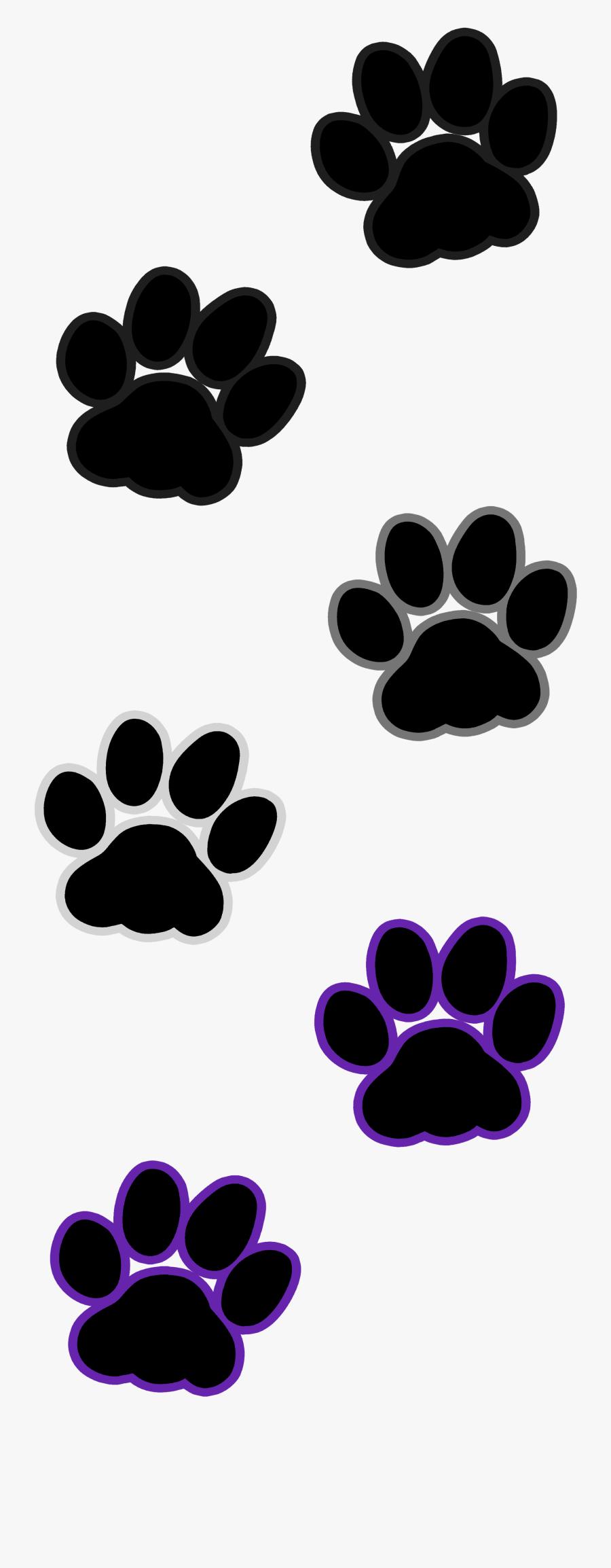 Cat Paw Prints Transparent, Transparent Clipart