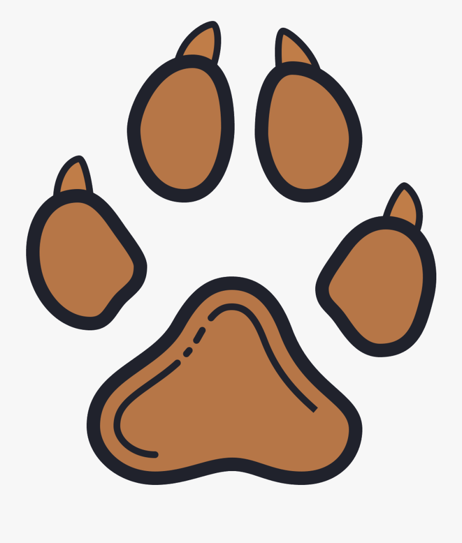 Dog Cat Paw Silhouette Clip Art - Dog Paw Icon Transparent Background, Transparent Clipart