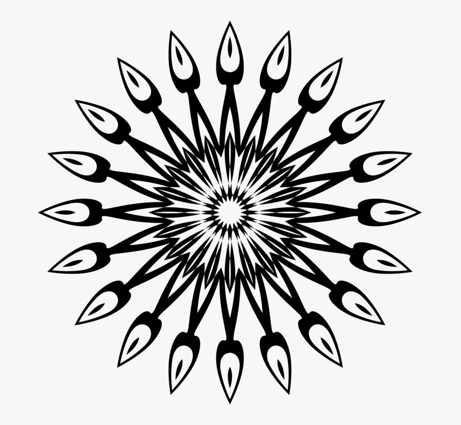 Line Art,flower,symmetry - Stem And Leaf Plot Flower, Transparent Clipart