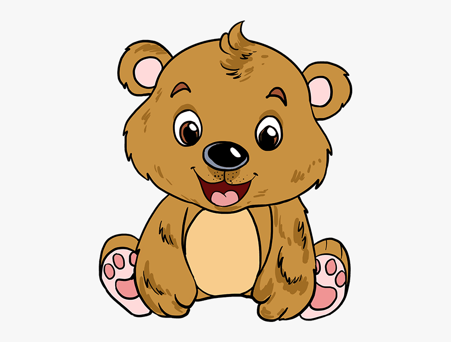 How To Draw Baby Bear - Draw A Brown Baby Bear, Transparent Clipart