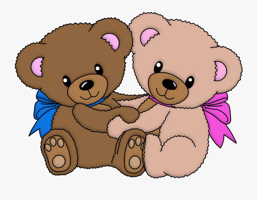 Animals Cute Baby Bears Free Picture - Baby Bear Teddy Bear Art, Transparent Clipart