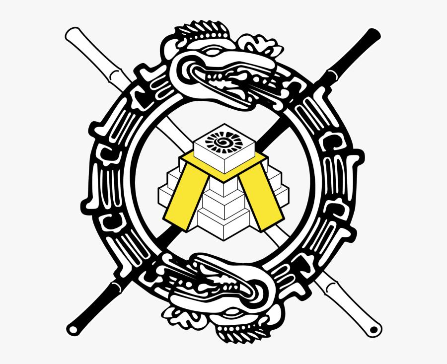 Aztec Ouroboros Symbol Ornament Clipart (640x653), - Tribal Aztec Dragon Tattoo, Transparent Clipart