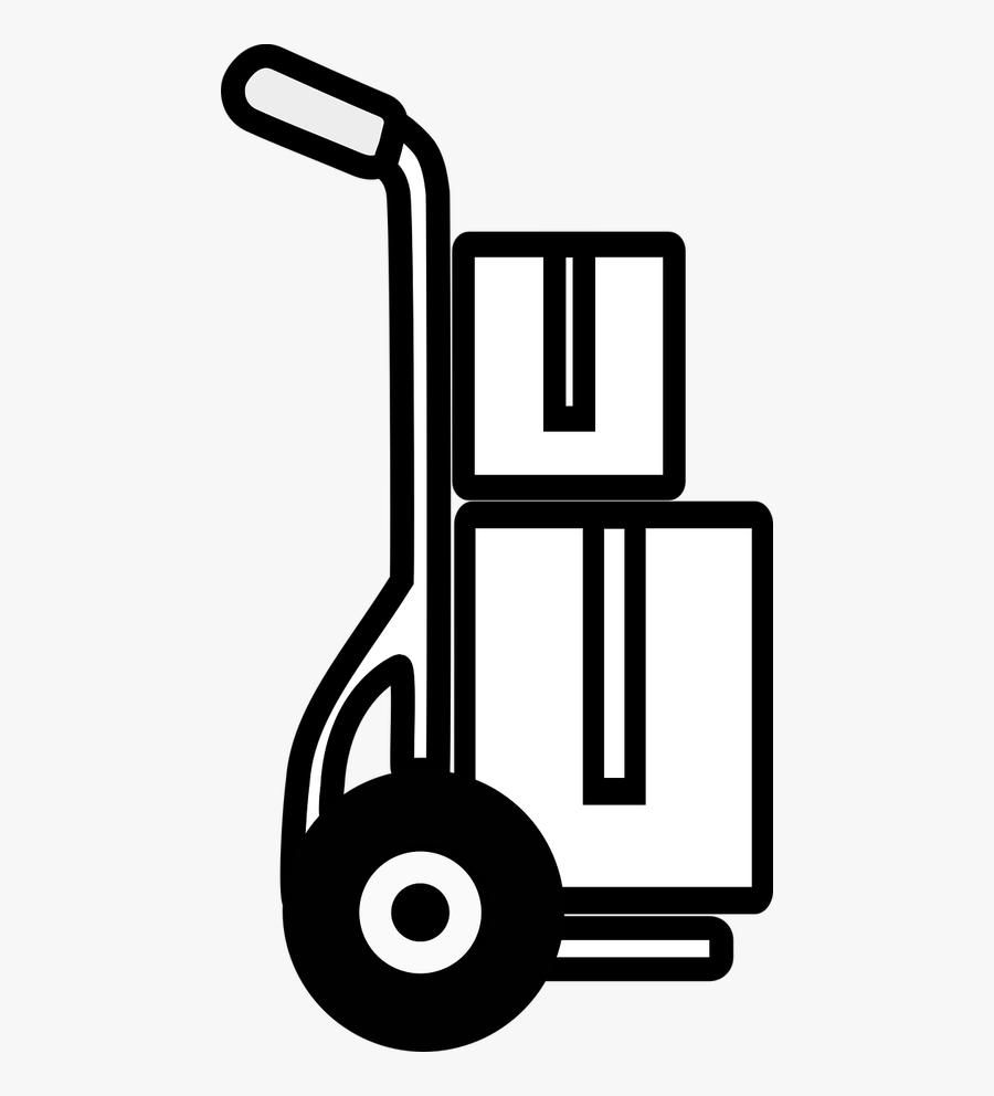 Sack Truck Transport Cart Move - Carrinho De Transporte Png, Transparent Clipart