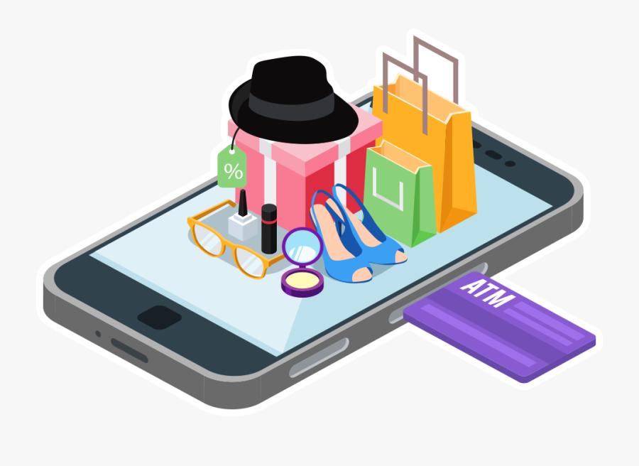 Media Explode Ecommerce Website Development - Online Shopping Png Mobile, Transparent Clipart