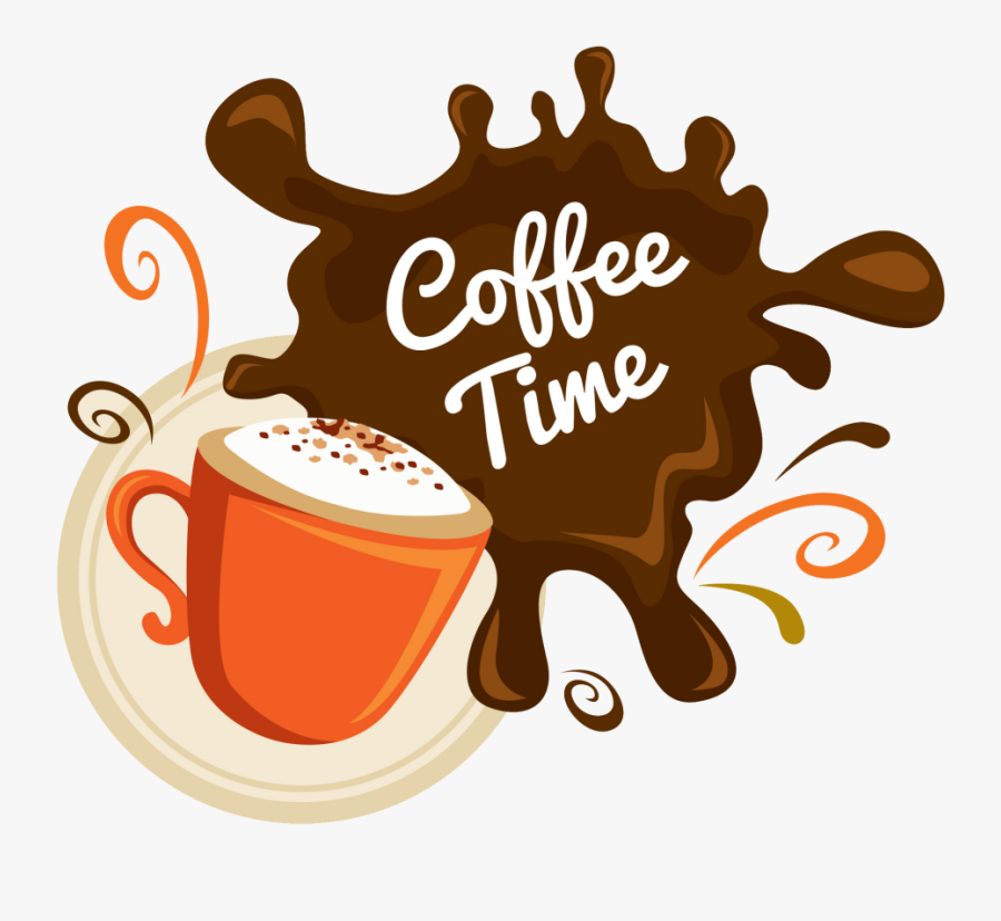Cup,coffee Coffee,java Art,brand,coffee - Coffee Time, Transparent Clipart