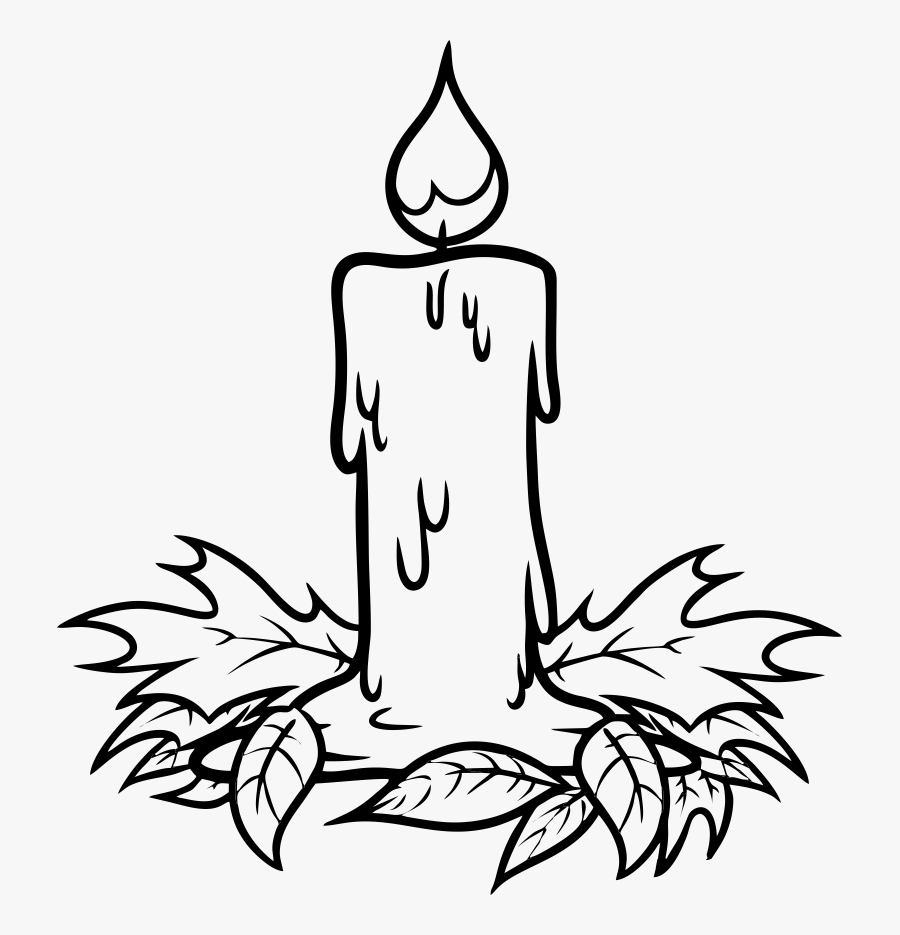 Christmas Candle At Getdrawings Clip Art Transparent - Drawing Picture Of Candle, Transparent Clipart