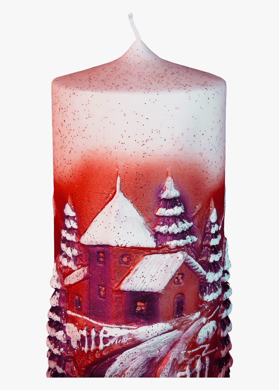 Red Christmas Candle Clip Arts - Krajina Vanocni Svicky, Transparent Clipart