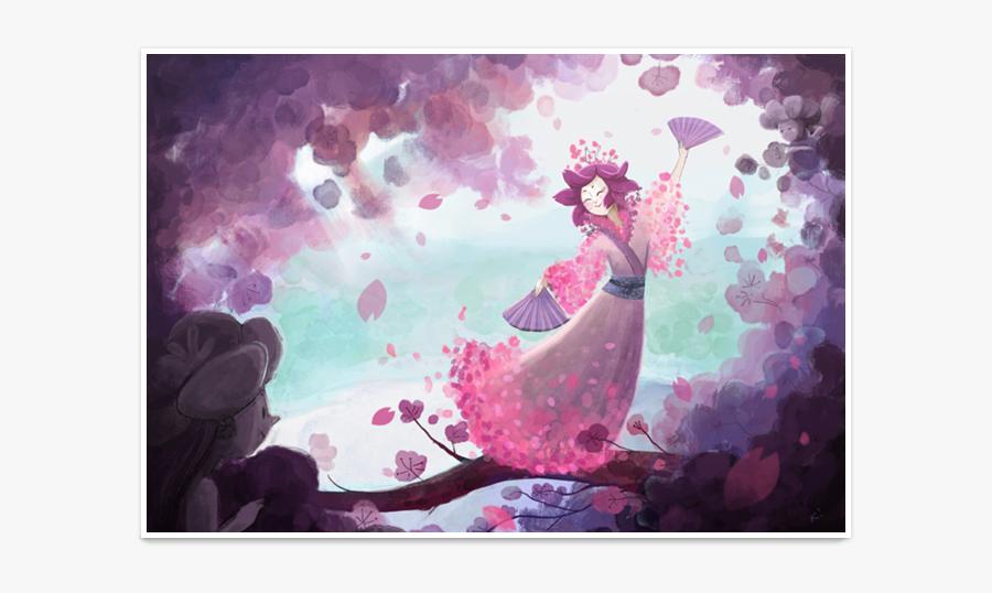 Clip Art Poster De Camila Queiroz - Cerejeira Aquarela Arvore, Transparent Clipart
