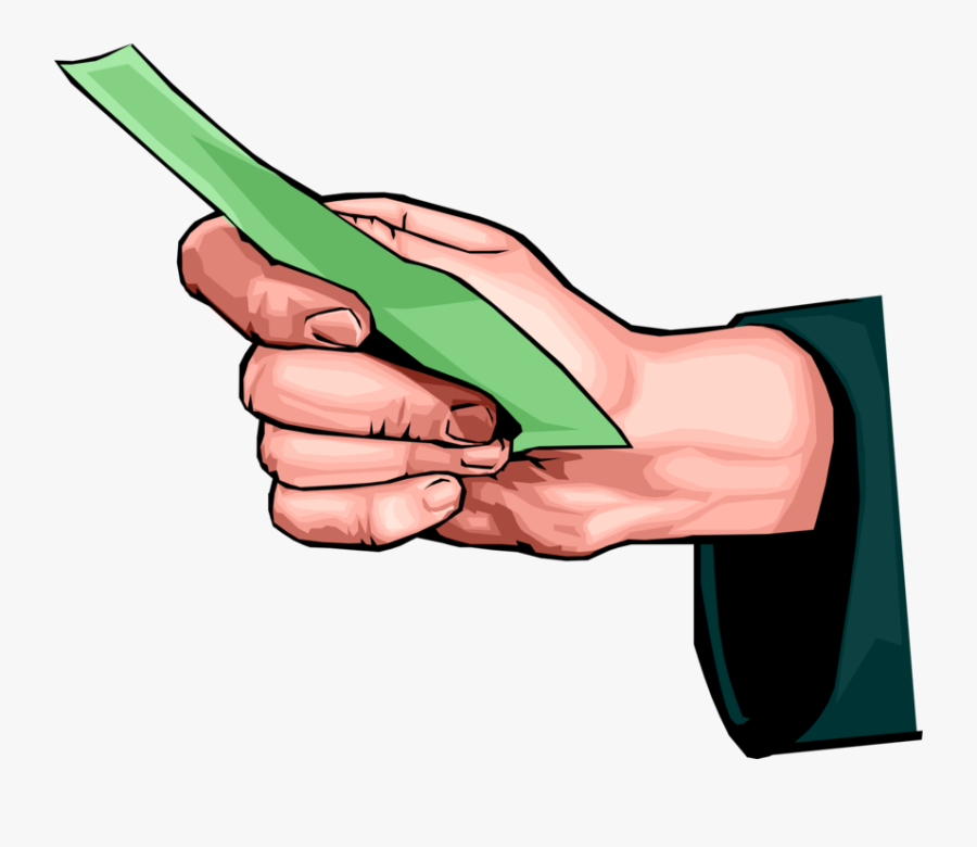 Vector Illustration Of Hand Holding Cash Currency Money - Hand Holding Money Clipart Png, Transparent Clipart