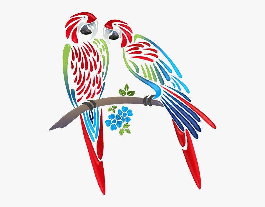 Stencil Printing Designs Of Birds, Transparent Clipart