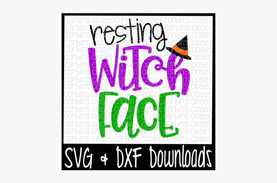 Free Halloween Svg Resting Witch Face Cut File Crafter Poster Free Transparent Clipart Clipartkey