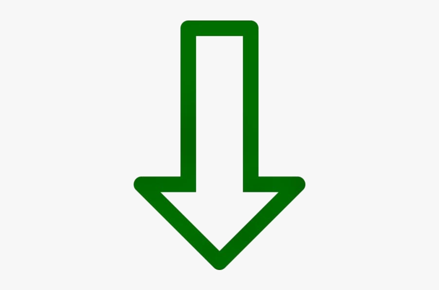 Transparent Arrow Pointing Down Clipart, Arrow Pointing - Download Template Icon, Transparent Clipart