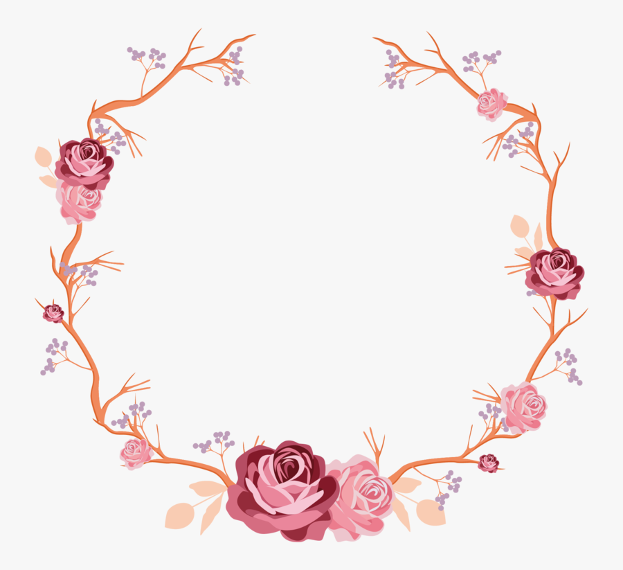 Round Flower Sticker Design, Transparent Clipart