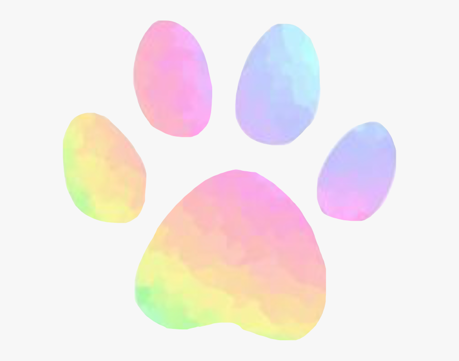 Pastel Paw Print Rainbow Aesthetic Cute Pink Dog Freeto