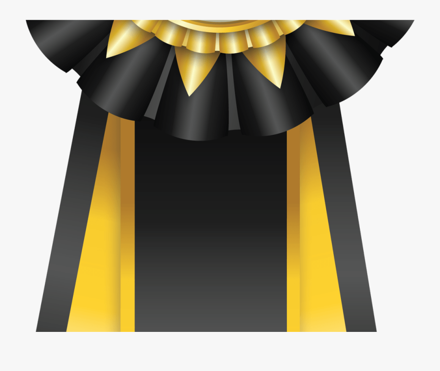 Clipart Black And White Download Personalized Lucite - Black And Gold Ribbons, Transparent Clipart